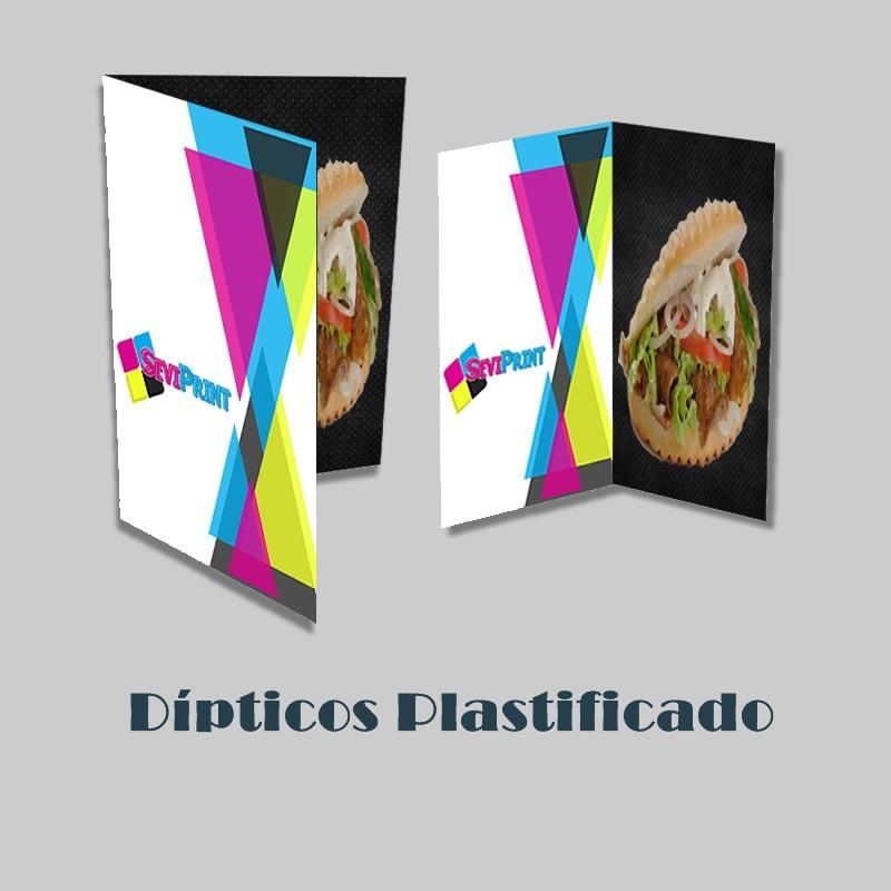 Cartas Dípticos Plastificado